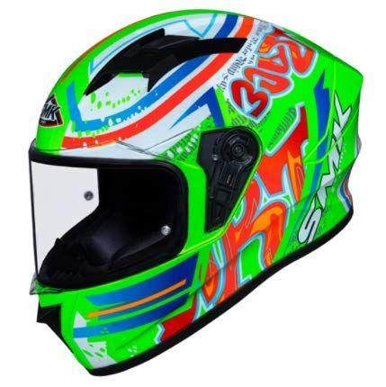 SMK Stellar Graffiti Gloss Green Red Orange (GL837) Full Face Helmet