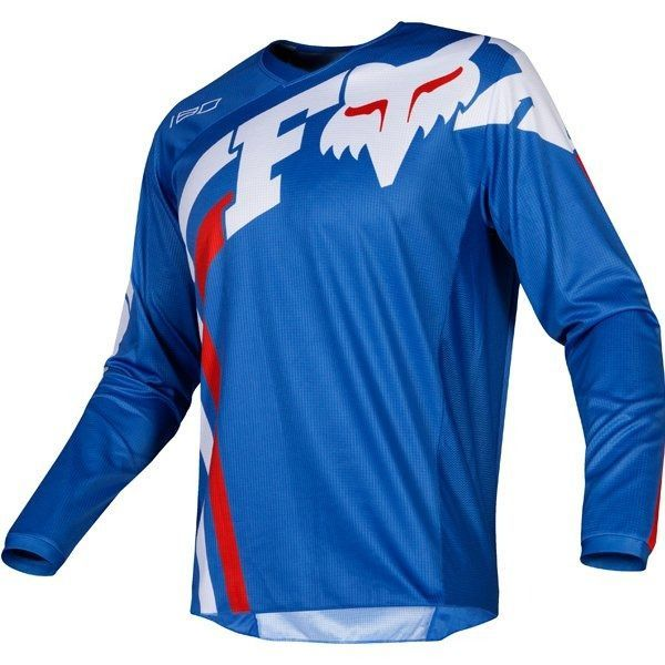 Fox 180 Cota Blue White Red Jersey