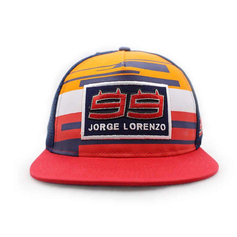 99 Lorenzo Red Orange Blue cap