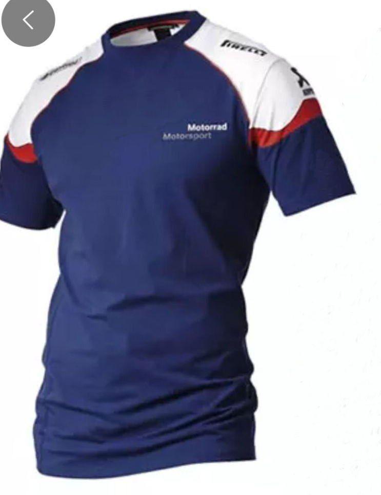 BMW Motorrad Blue White Red Round Neck T-Shirt