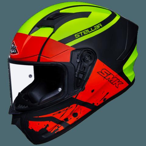 SMK Stellar Squad Gloss Black Red Yellow (GL234) Full Face Helmet