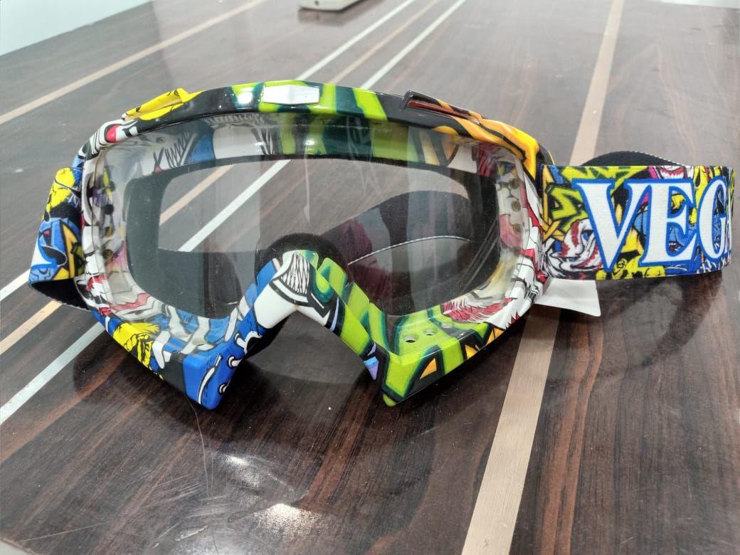 Vega Multicolor Off Road Moto Cross Clear Goggles