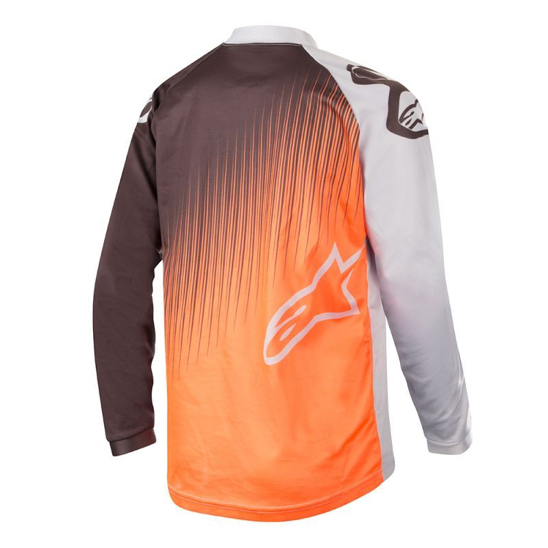 Alpinestars Race Supermatic Jersey Light Gray Orange Fl Black