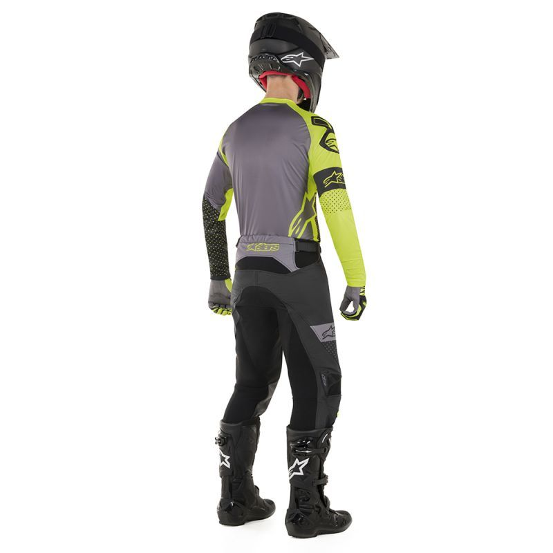 Alpinestars Racer Tech Atomic Black Yellow Fluo Gray Jersey Pant Set