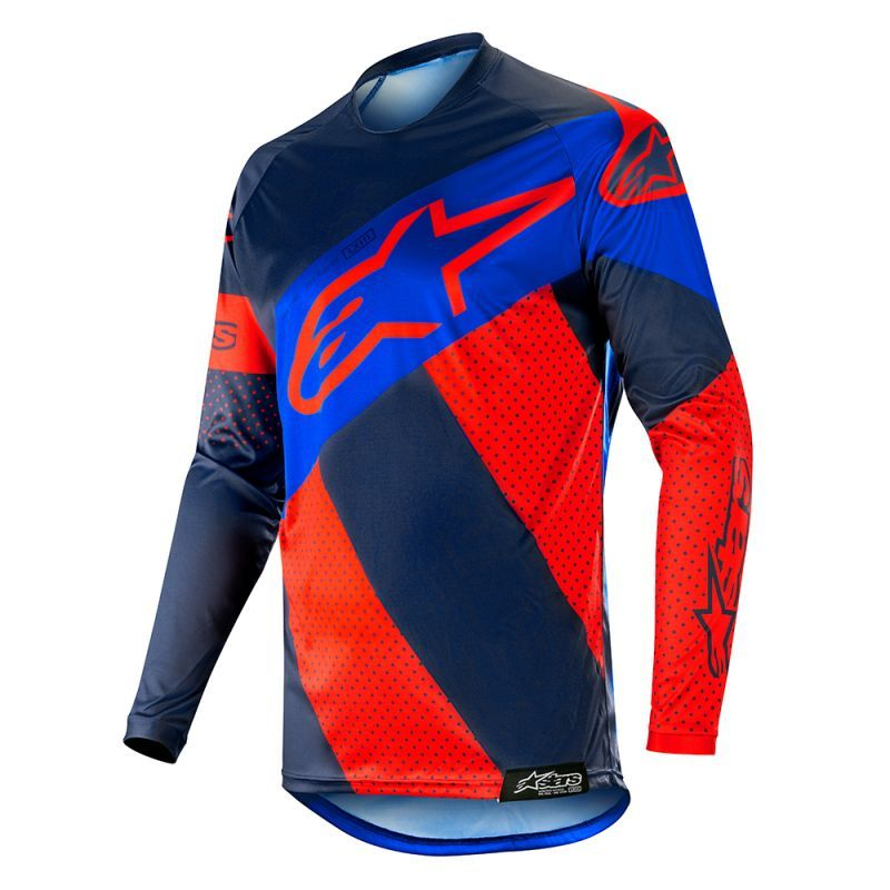 Alpinestars Racer Tech Atomic Dark Navy Blue Jersey Pant Set