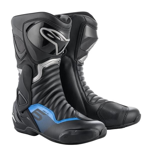 Alpinestars SMX-6 V2 Boot Black Gunmetal Blue