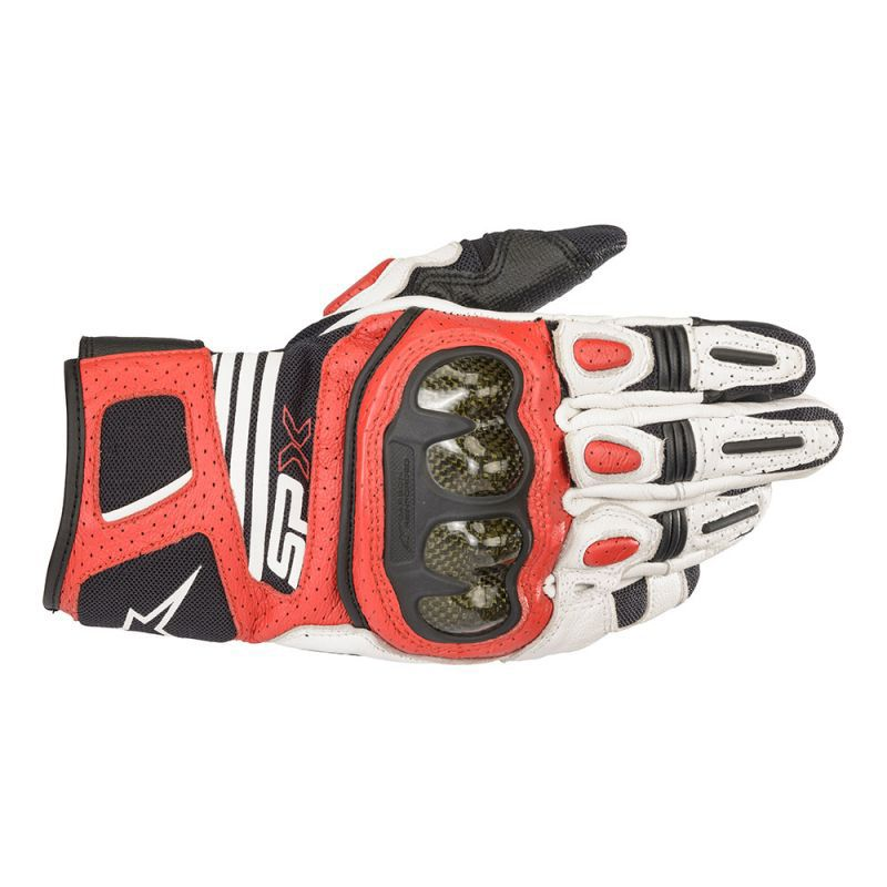 Alpinestars SP X AIR CARBON V2 Glove Black White Bright Red