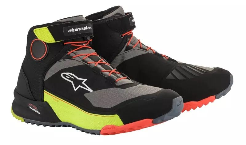 CR-X DRYSTAR RIDING SHOES Black Yellow Fluro Red