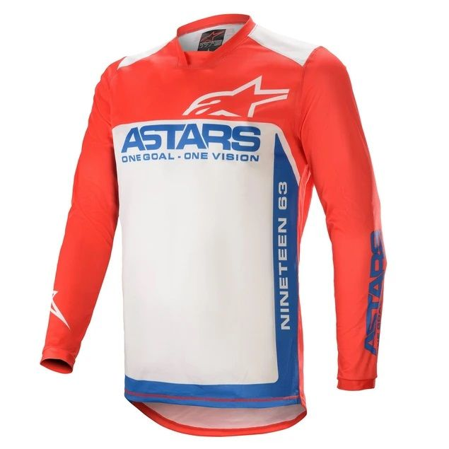 Alpinestars Racer Supermatic Jersey Brt Red Blue off White