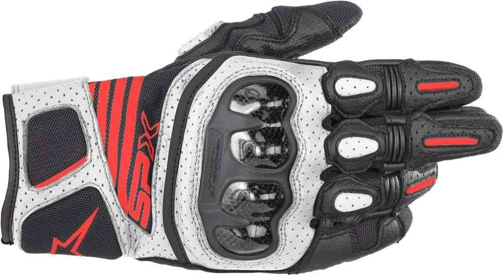 Alpinestars SP X AIR CARBON V2 Glove Black White Red Fluro