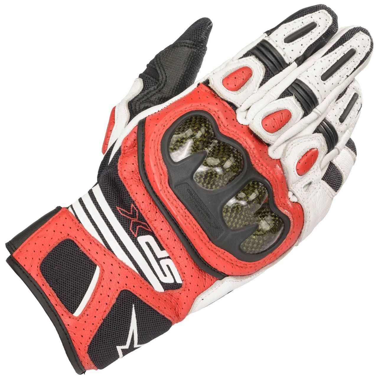 Alpinestars SP X AIR CARBON Glove Black White Red