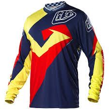 Troy Lee Designs Yellow Blue Red Jersey