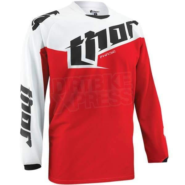 Thor White Red Black Jersey