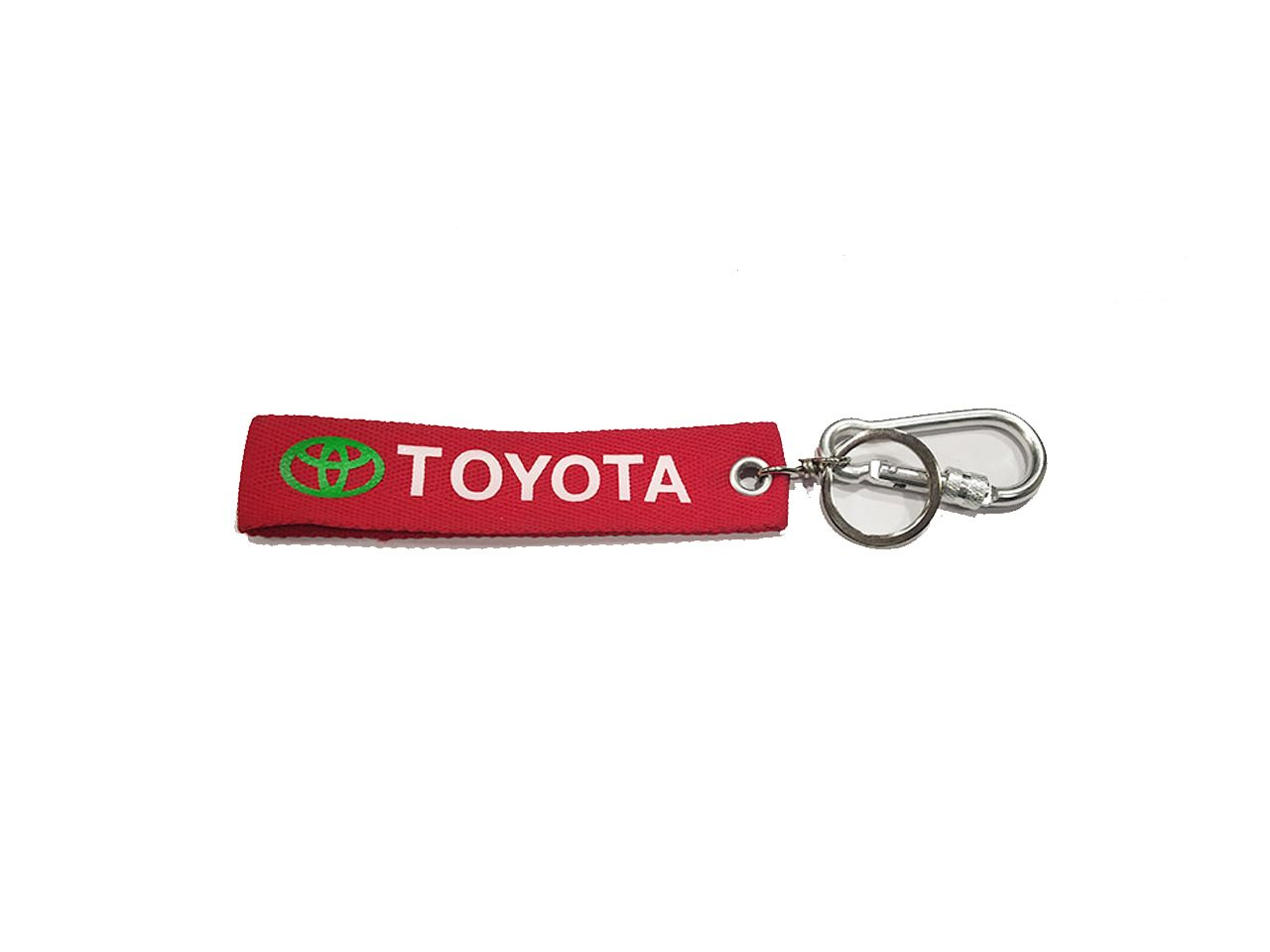 Toyota Red Fabric Keychain