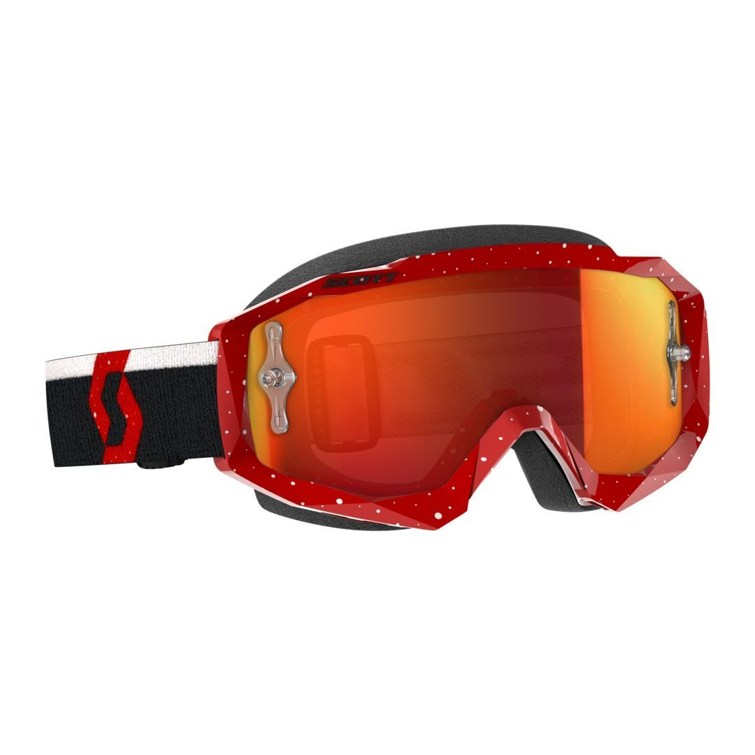 SCOTT HUSTLE MX GOGGLE RED/WHITE/ORANGE CHROME WORKS