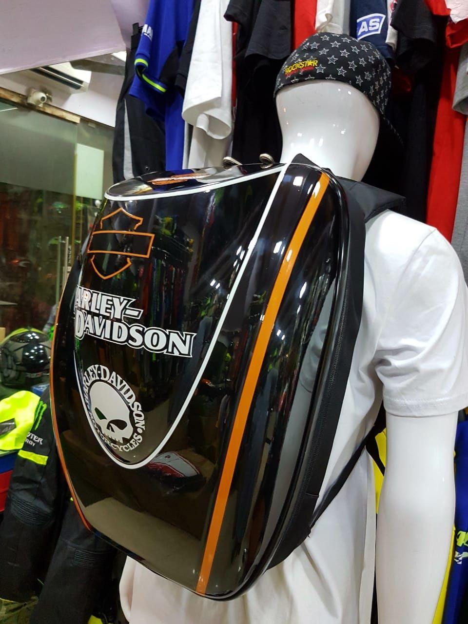 Harley Davidson Black Hard Shell Backpack