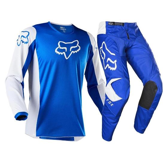 Fox Racing 180 Prix Race Jersey Pants Set - Blue White