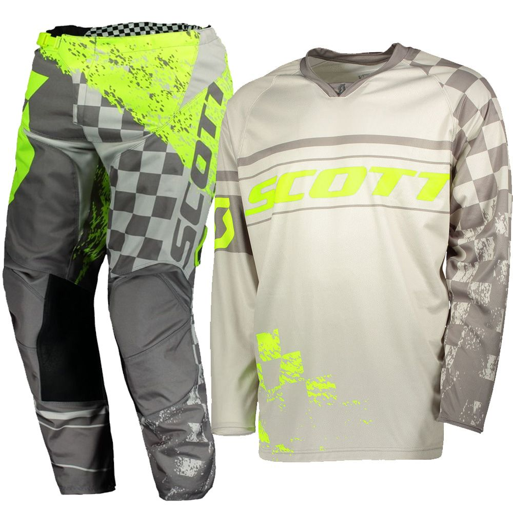 Scott Moto 350 Grey Yellow Jersey Set